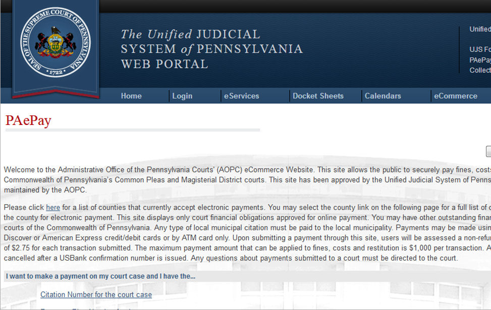 The Philadelphia Courts | First Judicial District of