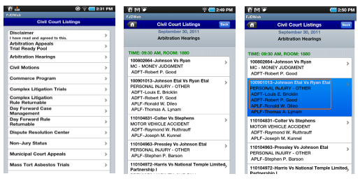 iFJD Android example pages